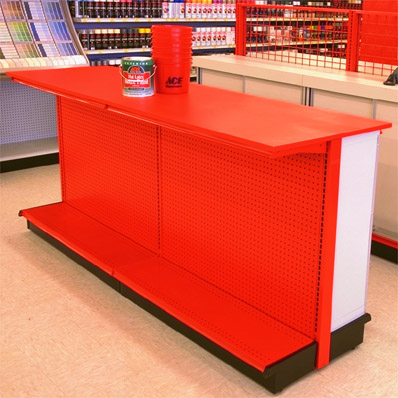 Gondola Shelving Counter