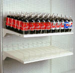 Gondola Gravity Feed Soda Bottle Shelves